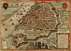 Antwerpen in Civitates Orbis Terrarum van Braun en Hogenberg, 1572