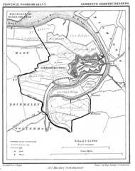 Geertruidenberg in de gemeenteatlas van Kuyper (Wikimedia Commons)